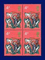 1970 SG838 4d Christmas Block (4) MNH Unmounted Mint aoxk