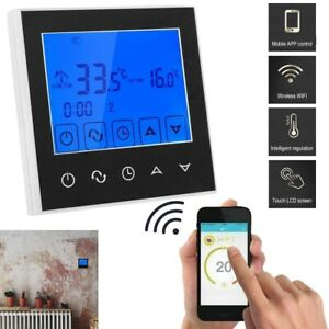 Touch Screen LCD WiFi Smart Programmable Thermostat Electric Heating App Control
