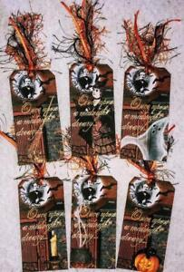 Set of 6 Hang Tags~Vintage Haunted Halloween~Gift Tags~Scrapbooking~Card's~#118R