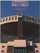 rivista - THE ARCHITECTURAL RECORD ANNO 1985 AGOSTO