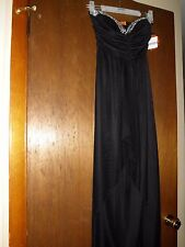 Womens Jus d'Orange Black Formal/Cocktail Strapless Long Dress Beautiful S/M NWT