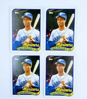 (4) 1989 Topps Traded Ken Griffey Seattle Mariners #41T Rookie Card