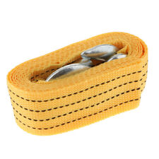 Car Tow Strap w/ 2 Hooks 10,000 Lb Capacity 2 X 118'' Towing Rope Yellow