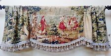 """""""BOSPORUS"""" FRENCH COUNTRY WINDOW VALANCE / TASSLE TRIMMED / ANTIQUE RED OR FLAX"""