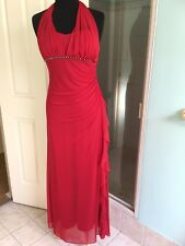 Events collection. long dress .size 10. Red .stunning