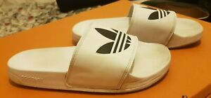 Adidas, Mens Slippers, Color: White, Size: UK-9, Used nice condition