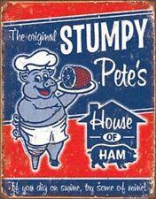 Stumpy Pete's Metal Pig Ham Man Cave BBQ Grill Home Decor Restaurant New!
