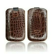 Cover Case Pouch Croco Apple IPHONE 4 4S Brown Shell