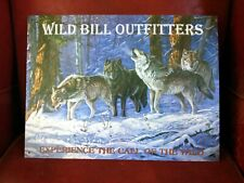 Wolves Howling Wild Bill Outfitters artist Doughty printed Vintage Metal Sign