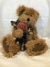 """""""Scaredycrow"""" Boyd's Bears - Brown Teddy Bear Holding a Scarecrow Doll"""