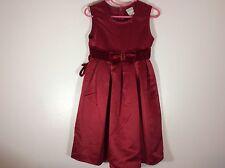 perfectly dressed girl's dress size 5 red Christmas velvet waistband   74