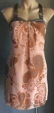 Gorgeous As!! COOPER ST Coral & Grey Paisley Print Sleeveless Top Size 8