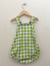Favorite Laundry Boutique Green Argyle Romper 2T