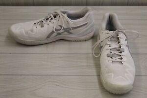 Asics Gel-Resolution 8 Tennis Shoes, Men's Size 10.5, White/Silver