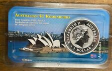2001 Australian .999 Silver 1 Oz Kookaburra Australia Bullion Coin LITTLETON COA