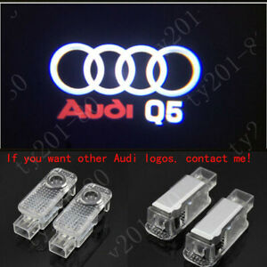 Audi Q5 Logo LED Laser Projector Car Door Welcome Ghost Courtesy Shadow Lights
