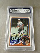 Pat Lafontaine Signed 1984-85 Topps Rookie Card PSA Slabbed #83356474