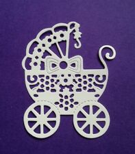 10 x Baby Carriage Die Cuts. See 2nd Photo for size