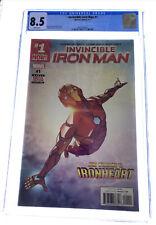Invincible Iron Man #1 CGC 8.5 Marvel Comics Jan 2017 white pages