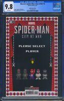Spider-Man City at War 5 CGC 9.8 8-Bit Waite Variant Super Mario Bros 2 homage