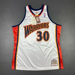 100% Authentic Stephen Curry Mitchell Ness 09 10 Warriors Jersey Mens Size 48 XL