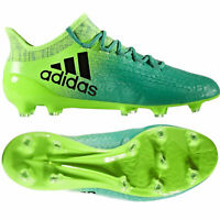 adidas Boys X 16.1 FG Techfit Firm Ground Football Boots Moulded Studs Green 5