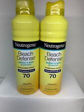 2x Neutrogena Beach Defense Spf 70 Spray 6.5 oz