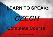 LEARN TO SPEAK CZECH - LANGUAGE COURSE - TEXTBOOK & 8.5 HRS AUDIO MP3 ALL ON DVD