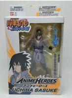 """Bandai Anime Heroes Naruto Shippuden Uchiha Sasuke 6"""" Action Figure NEW IN HAND"""