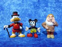 Vintage Scrooge McDuck & Mickey Mouse & McDonald's Dwarf Figurines WALT DISNEY