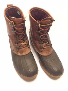Vintage Womens LL Bean Duck Boots Hunting Size 10 Tinsulate