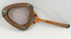 Vintage Spalding Tri Point Karel Kozeluh Tennis Racket w/ Unusual Press
