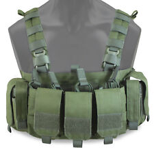 Bulldog FLI Military Army Tactical Airsoft Lightweight Chest Rig Harness Green