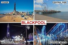 SOUVENIR FRIDGE MAGNET of BLACKPOOL ENGLAND