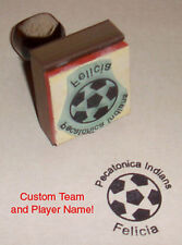 Soccer Ball Rubber Stamp With Your Custom Team & Player