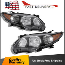 For 2011-2013 Toyota Corolla Black Headlights lamps Aftermarket Left+Right USA
