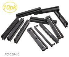 10-Pack 50-Pin (2x25) Female IDC 2.54mm Pitch Connectors for Flat Ribbon Cable