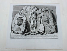 PIRANESI Rom 1756 Le Antichità Romane Painted Wall Fragments Piramid Cestio