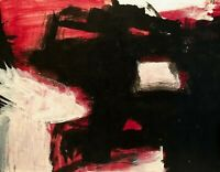 PM 2007 ABSTRACT EXPRESSIONIST MODERNIST PAINTING ON WOOD PANEL