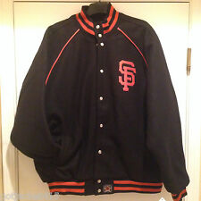 San Francisco GIANTS Wool Jacket Hand crafted Leather applique logo made in USA