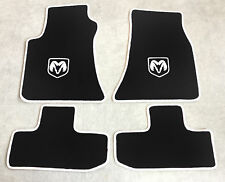 Autoteppich Fußmatten für Dodge Challenger ab Bj.2008 Velours sw weiss 4tlg. Neu