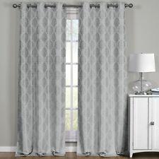 Paisley Blackout Jacquard Textured Grommet Top Curtain Panels ( Set of 2 Panels)
