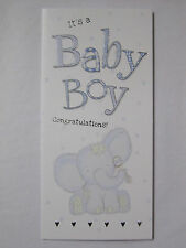 ITS A BABY BOY CONGRATULATIONS A GIFT FOR YOU MONEY WALLET GREETING CARD