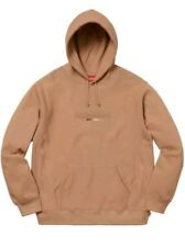 New Supreme Embossed Logo Hooded Sweatshirt Light Brown XL ss18