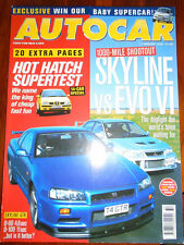 Autocar 11/8/99 BMW Z3 2.8, Skyline vs Evo VI
