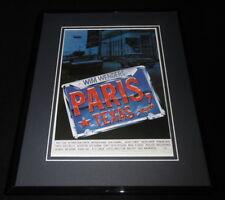 Paris, Texas Framed 11x14 Repro Movie Poster Display Harry Dean Stanton