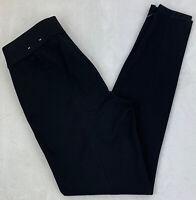 White House Black Market The Legging Pants Ankle Zippers Black Side Zip Size 2