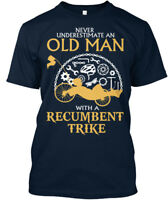 Stylish Old Man With A Recumbent Trike - Never Underestimate Premium Tee T-Shirt