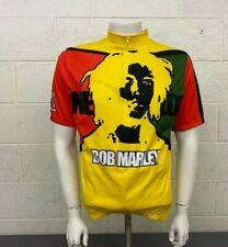Ride 7b Bob Marley One Love Yellow Black Red Green Cycling Bike Jersey Men's Lrg