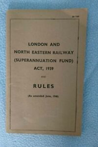 London and North Eastern Railway (Superannuation Fund) Rules June 1946